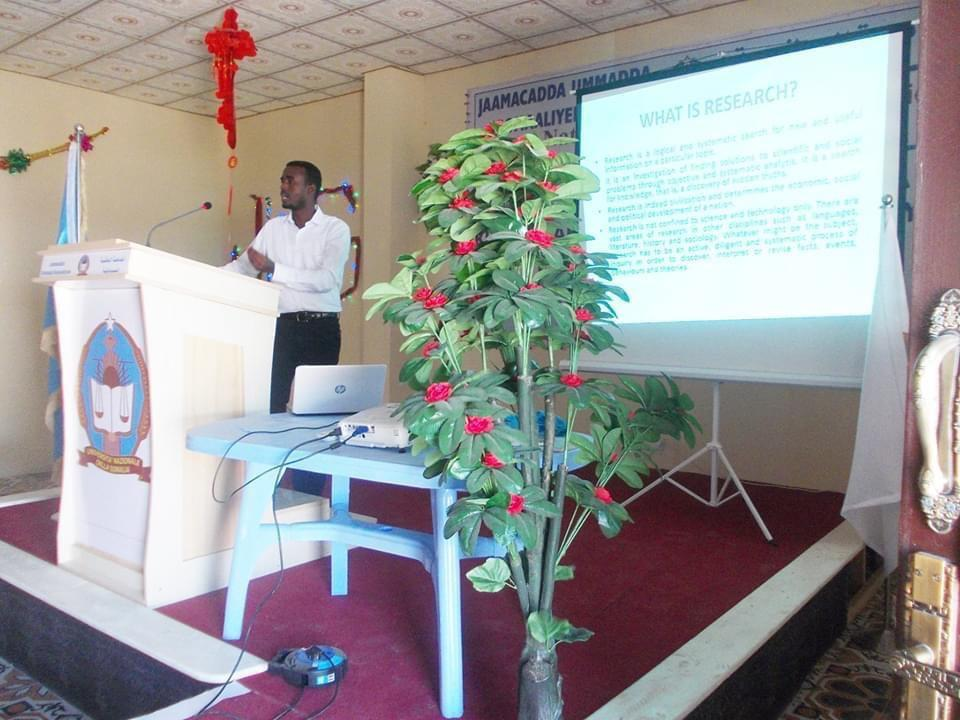 Importance of Research in Somalia held at Somali National University