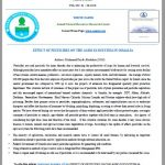 EFFECT OF PESTICIDES ON THE AGRO ECOSYSTEM IN SOMALIA